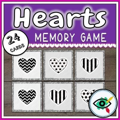 hearts-bw-memory-game-title