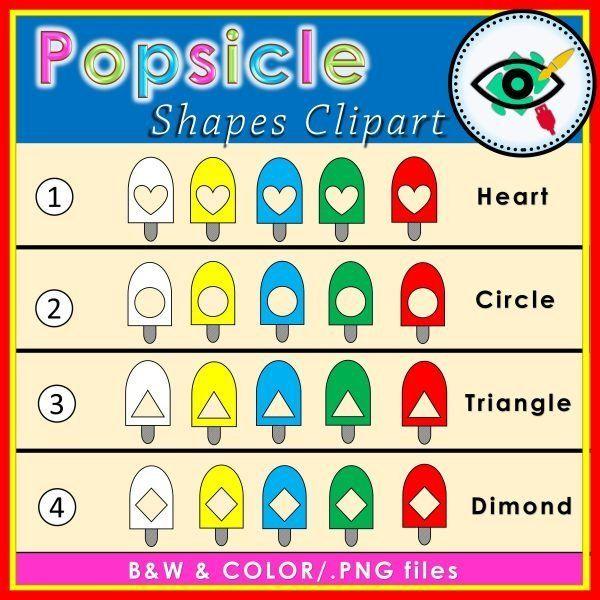 popsicle-shapes -clipart-title1