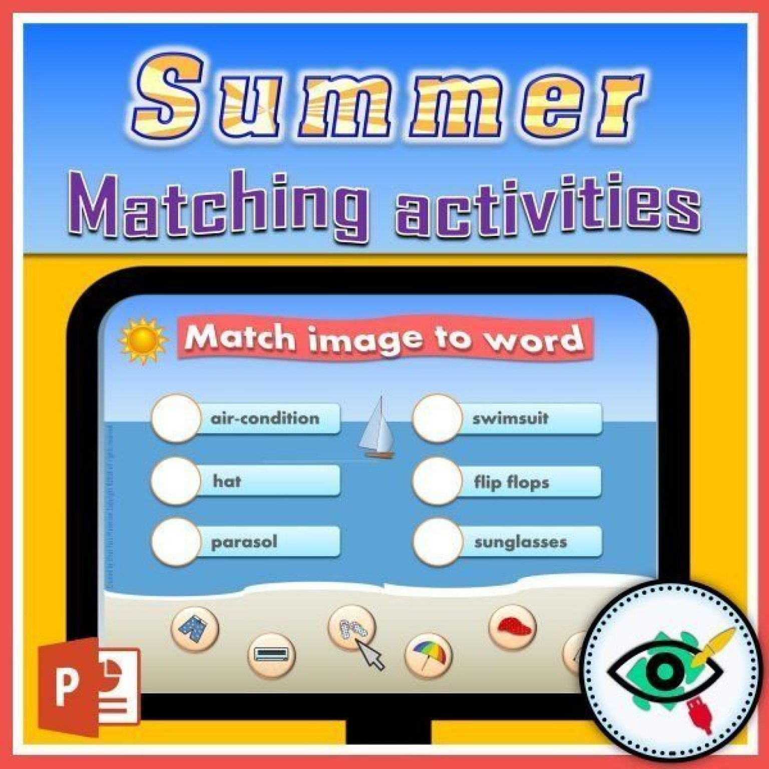summer-words-matching-interactive-activities-title1