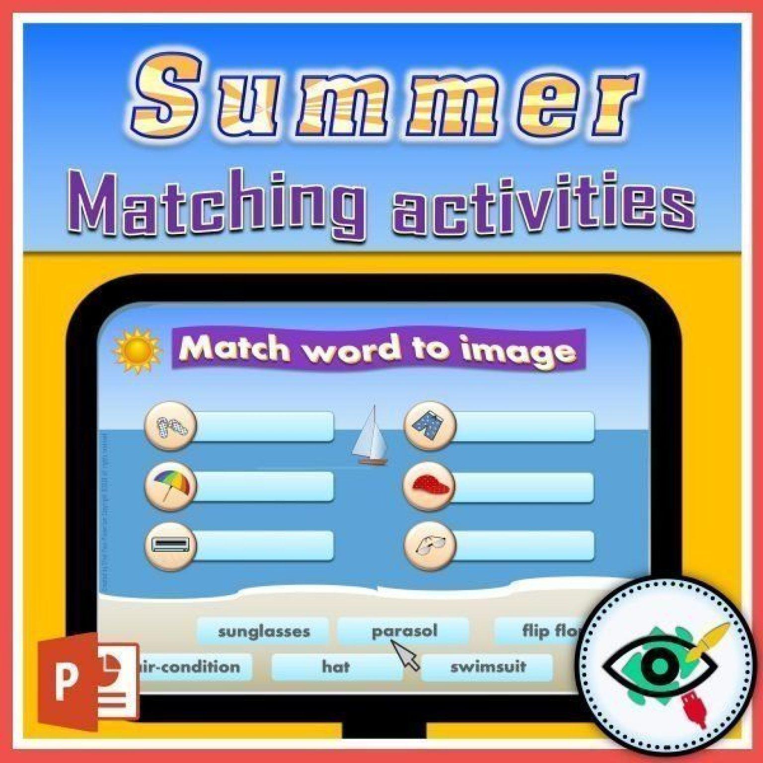 summer-words-matching-interactive-activities-title2