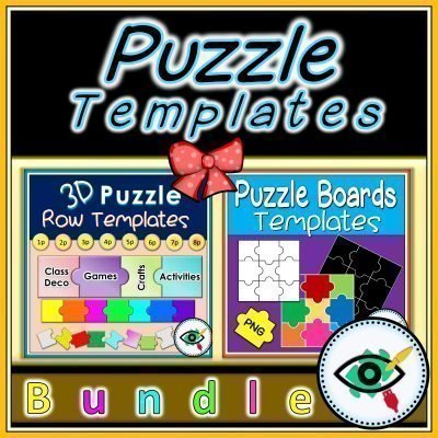puzzle templates bundle-title