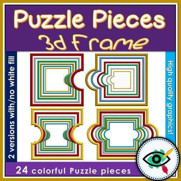 clipart-puzzle-pieces-3d-frame-title