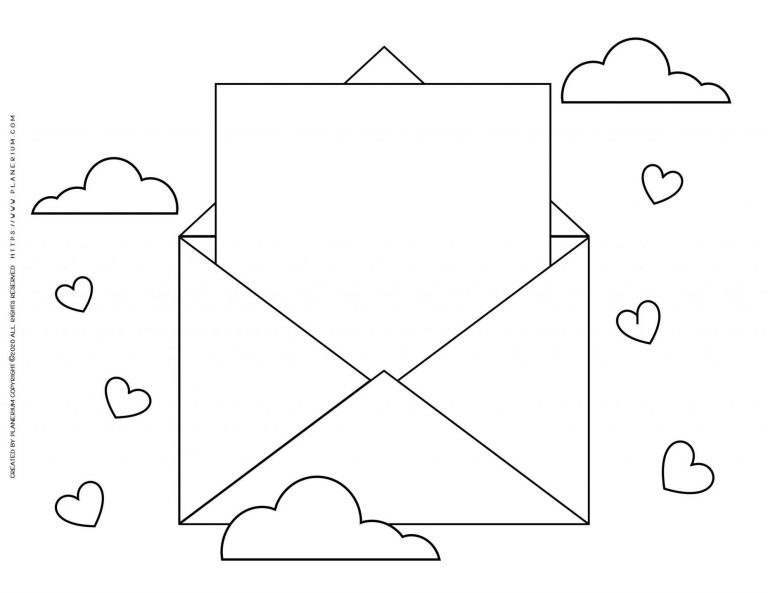 Valentines Day Coloring Page Love Letter