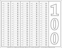 100 Days of School - Coloring Page - 100 Pencils | Planerium