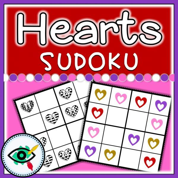 Valentines Day Heart colors Sudoku | Planerium