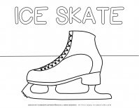 Winter Coloring Page - Ice Skate | Planerium
