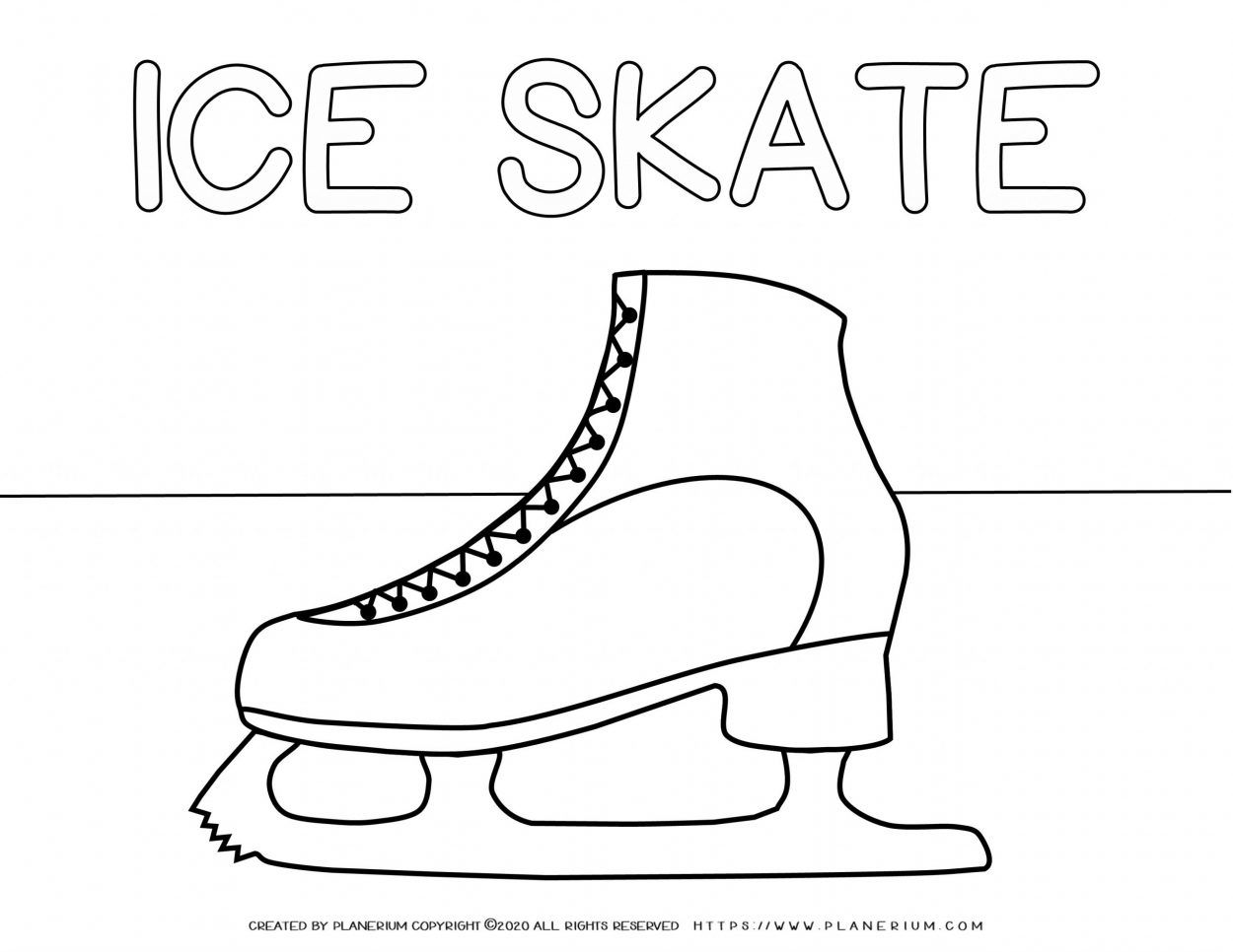 Printable Ice Skate Coloring Page - Get Coloring Pages | 966x1250