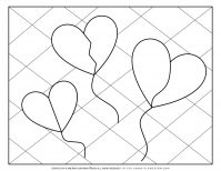 Valentines Day Coloring Page - Broken Hearts Balloons