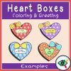Valentines Day Coloring and Greetings heart boxes 5   Planerium