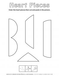 Valentines Day Worksheet - Heart vertical puzzle