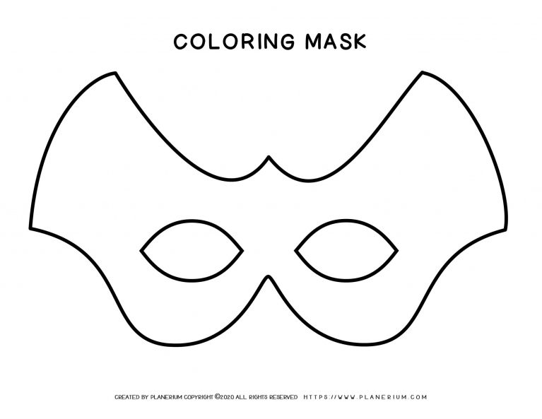 Carnival - Coloring Pages Worksheets - Eye Mask | Planerium