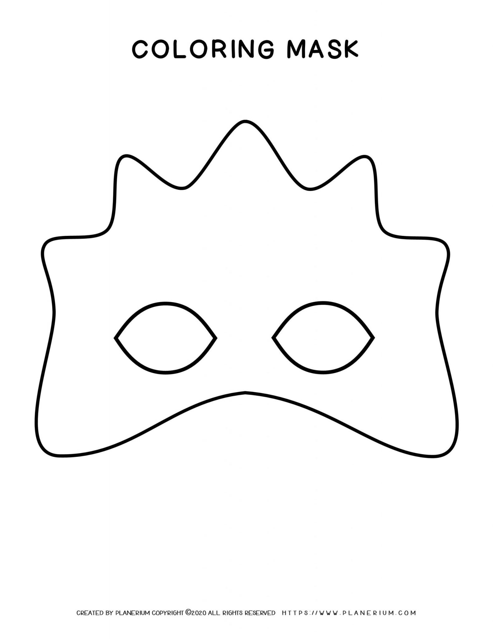Carnival - Coloring Pages Worksheets - Eye Mask High | Planerium