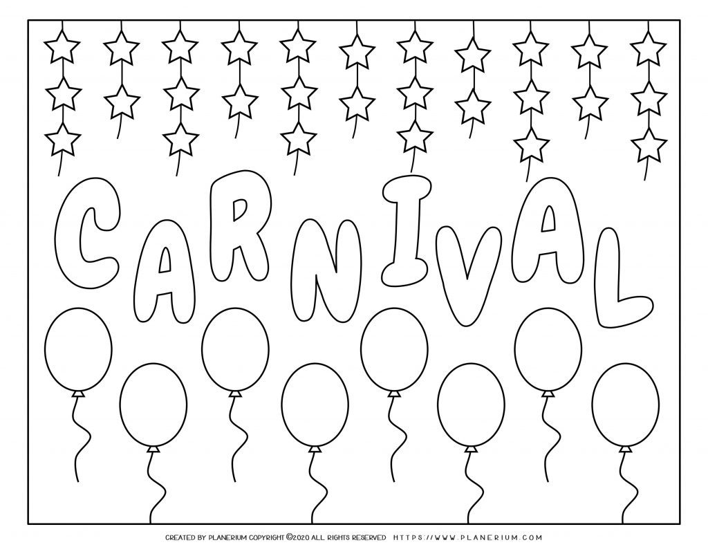 Carnival - Free printable Coloring pages for kids | 791x1024