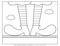 Carnival - Coloring Page Worksheet - Clown Boots | Planerium
