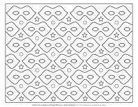 Carnival - Coloring Page Worksheet - Eye Mask Pattern | Planerium