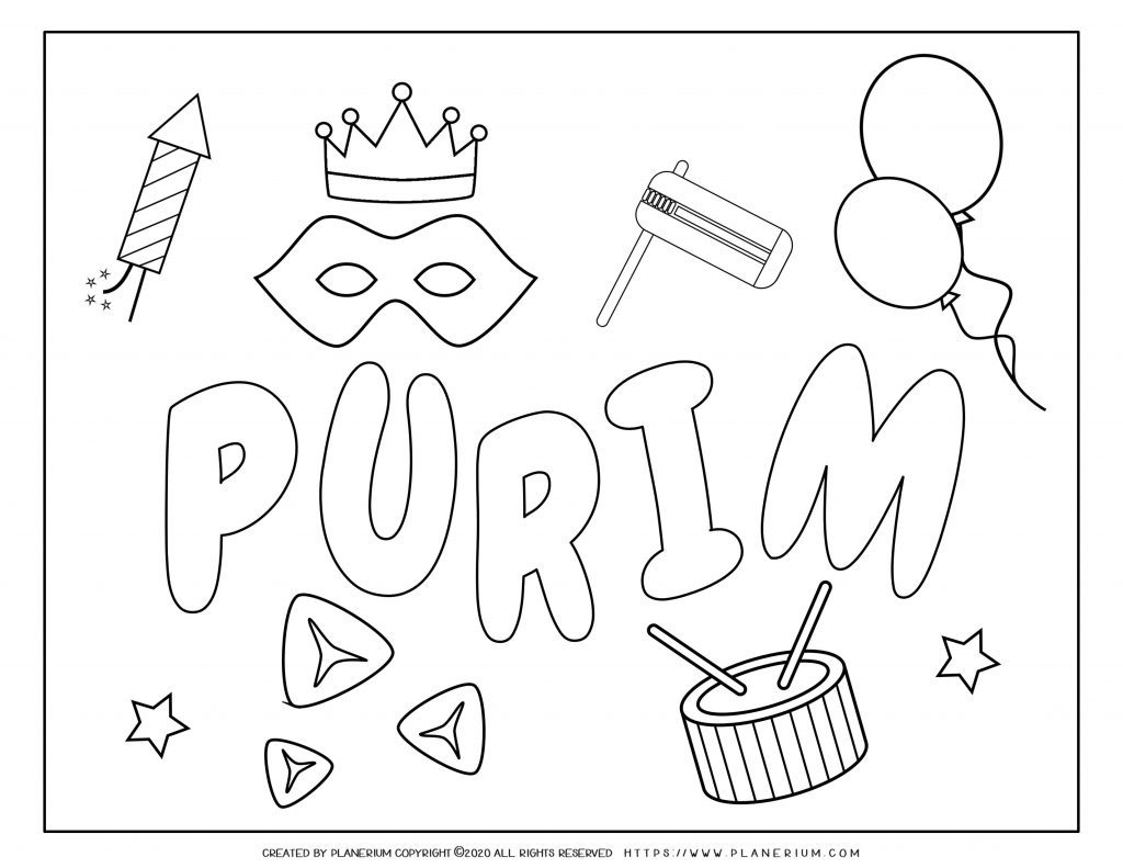 Purim Coloring Pages And Worksheets Free Planerium