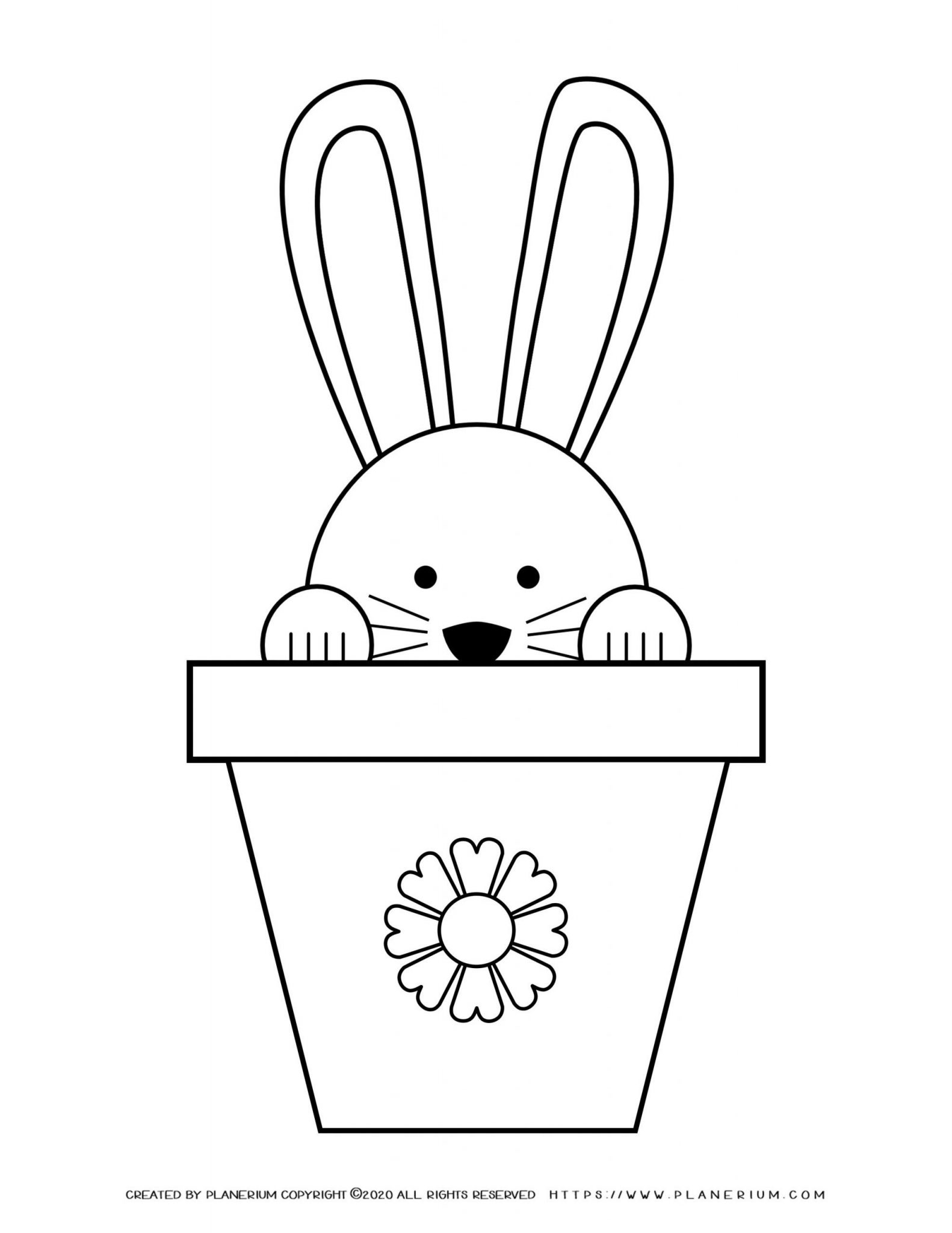 Easter bunny in a pot