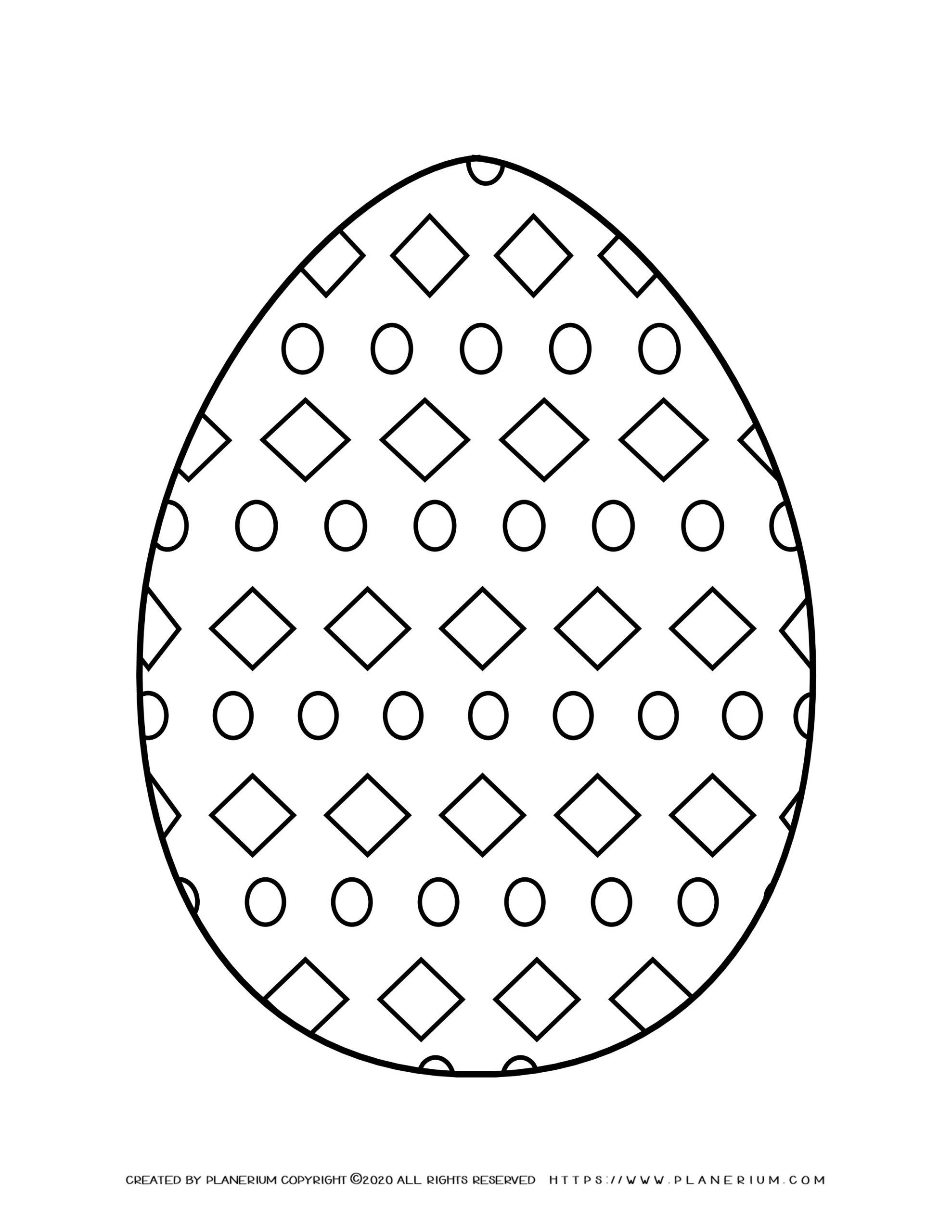 Easter egg decorated with Diamonds