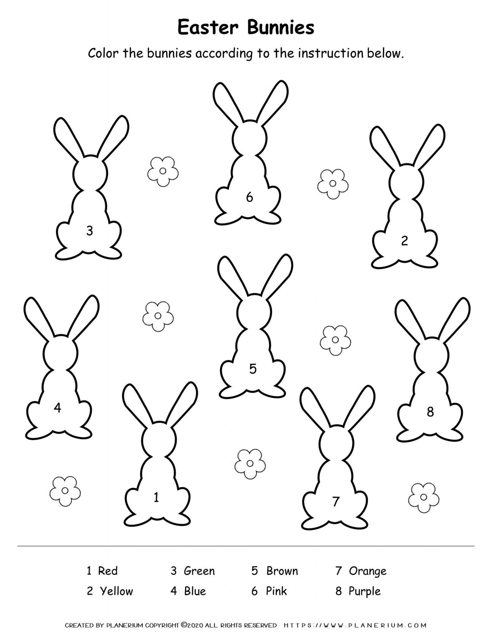 Easter Bunny coloring worksheet