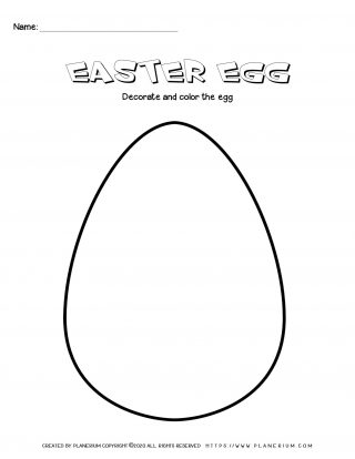 Easter egg decorate and color worksheet