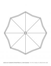 Spring coloring page - Octagon shaped umbrella