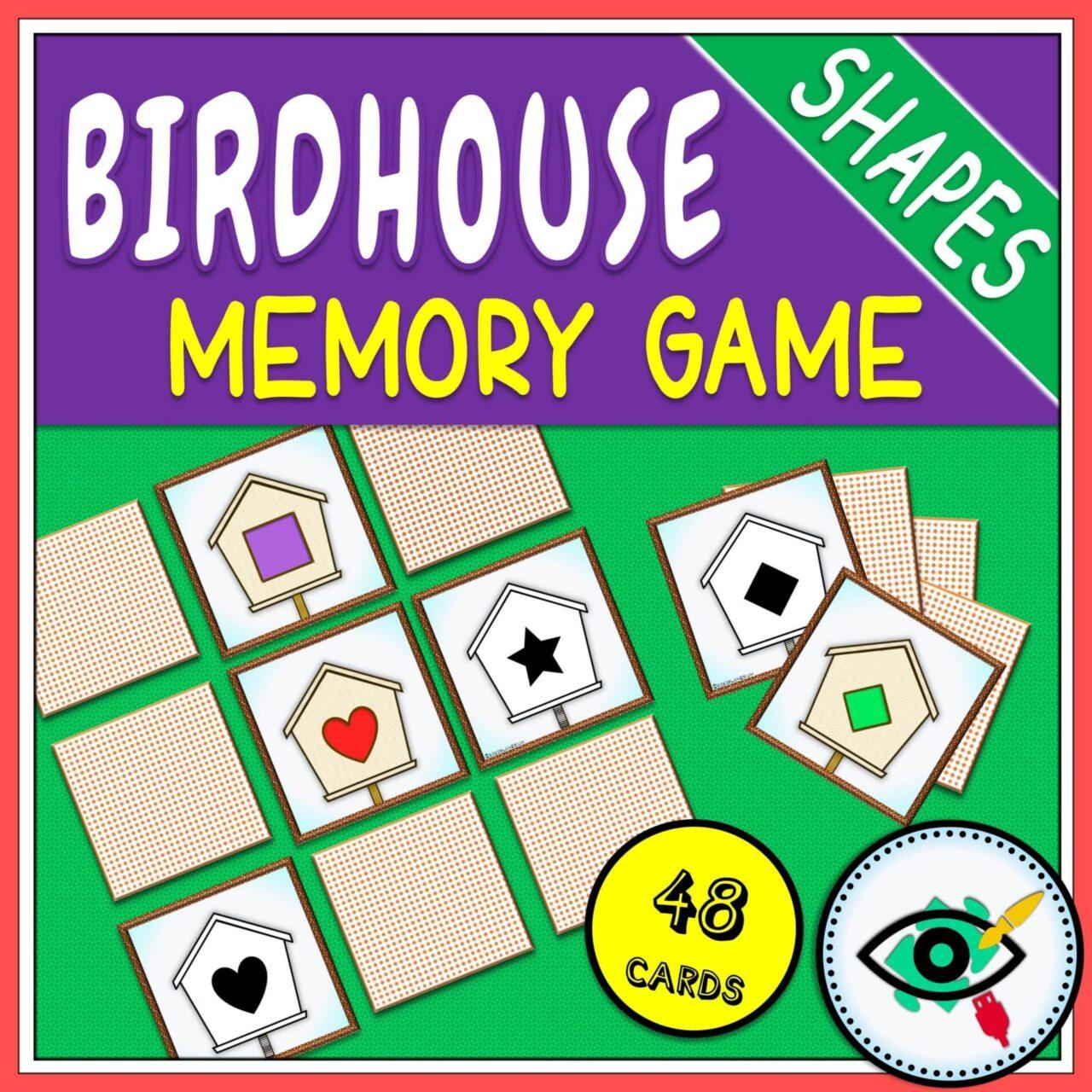 Spring - Memory Game - Birdhouse Shapes game | Planerium