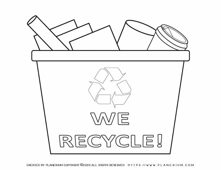 Earth day - Coloring page - We Recycle