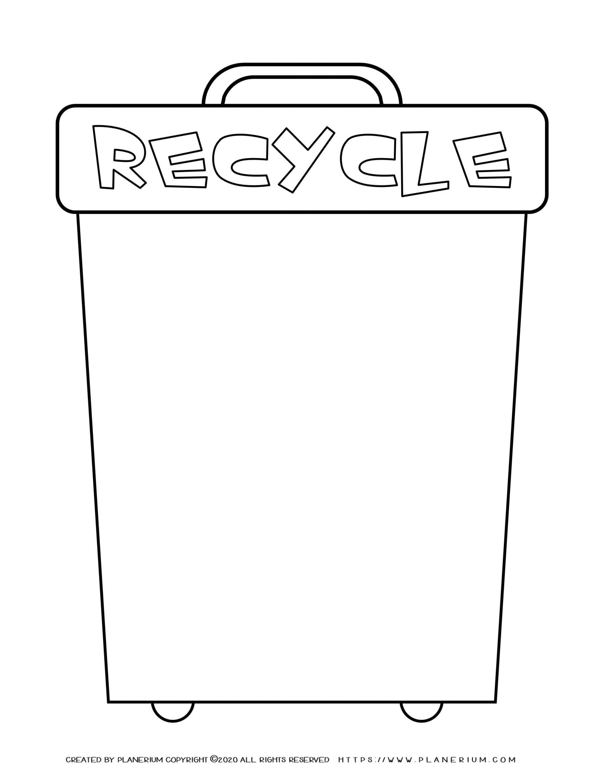 Earth day - Worksheet - Recycle bin