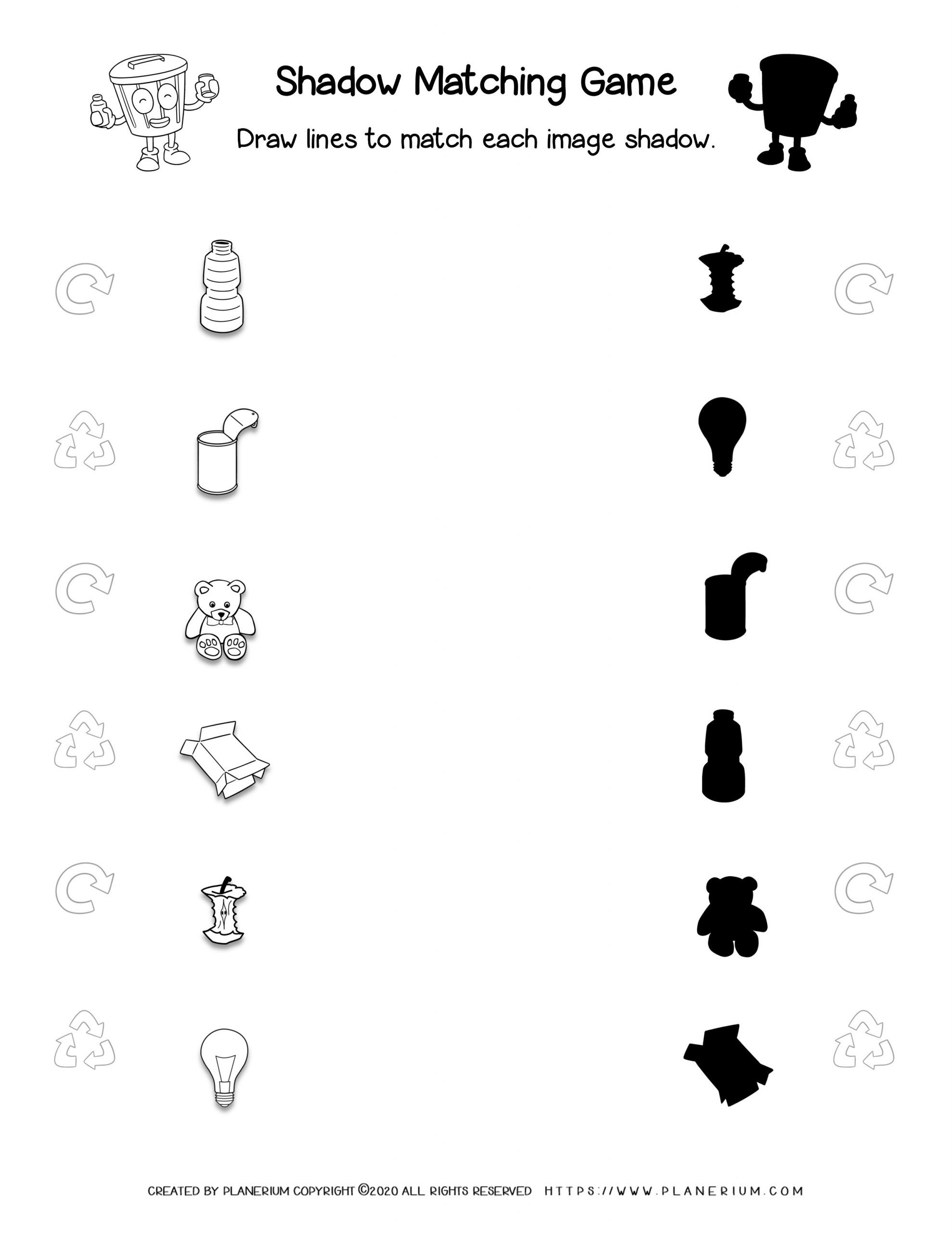 Earth Day - Worksheet - Matching Game
