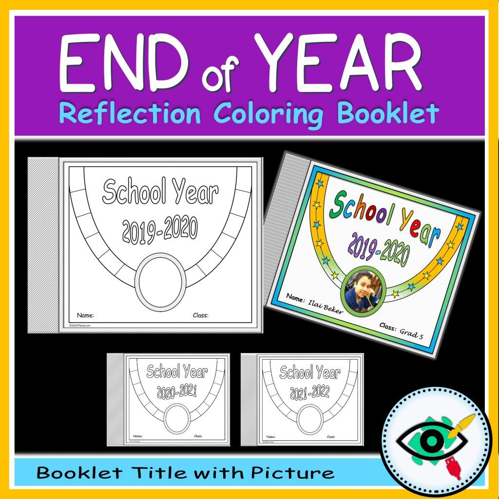 End of year coloring booklet - Product title 1 | Planerium