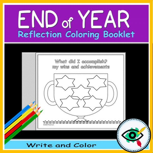 End of year coloring booklet - Product title 3 | Planerium