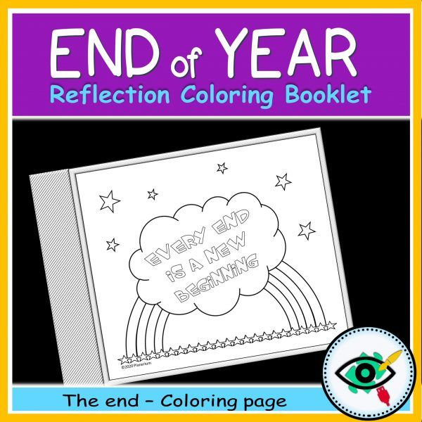 End of year coloring booklet - Product title 5 | Planerium