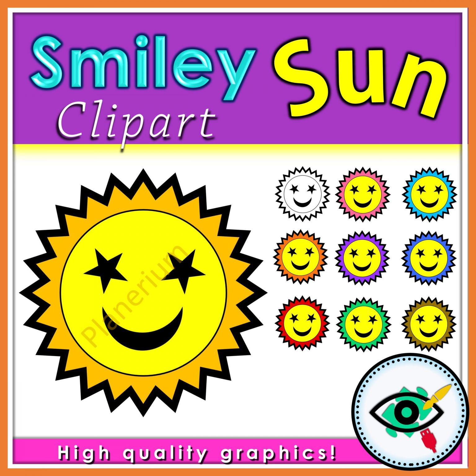 Summer - Clipart - Smiley Sun - Title 1