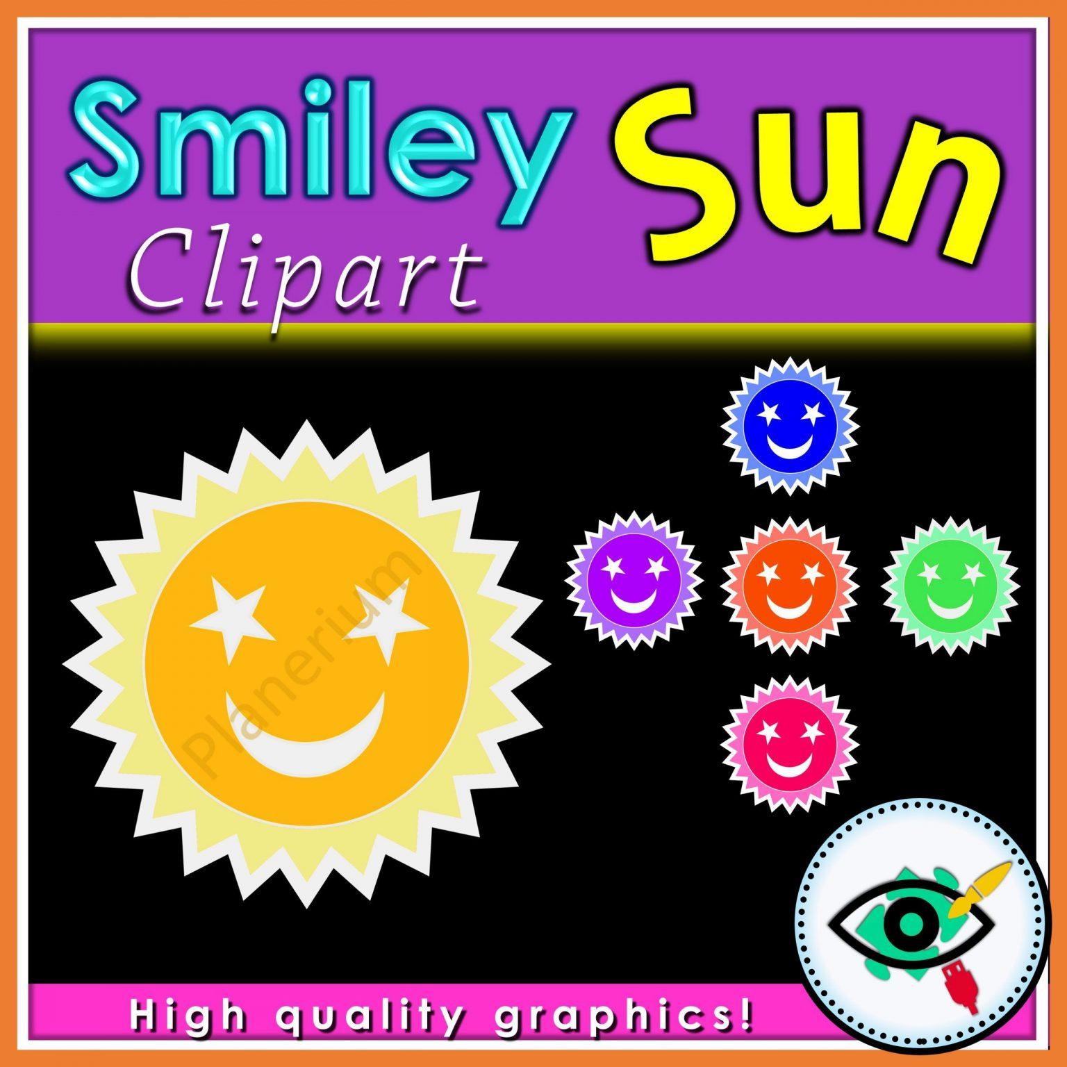 Summer - Clipart - Smiley Sun - Title 2