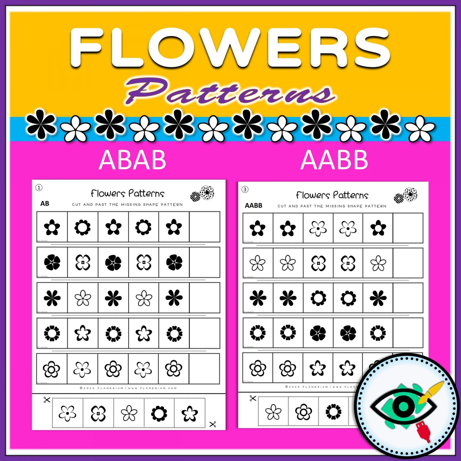 Spring - Patterns Game - Flowers - Title 1