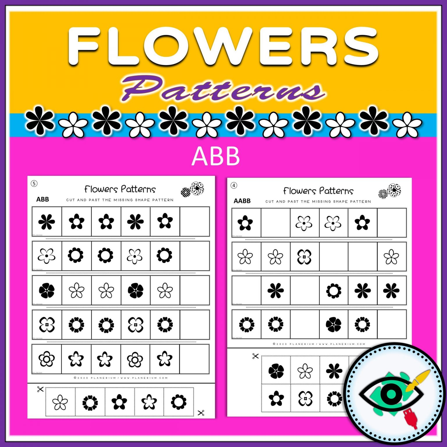 Spring - Patterns Game - Flowers - Title 2