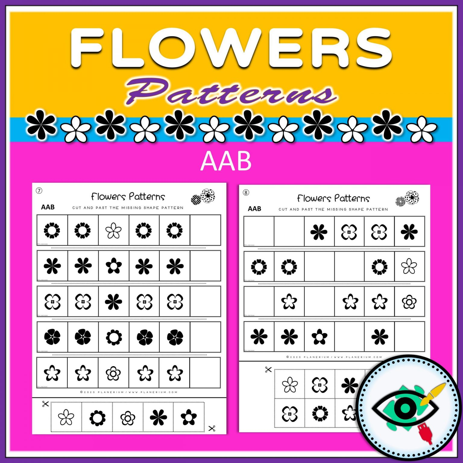 Spring - Patterns Game - Flowers - Title 3
