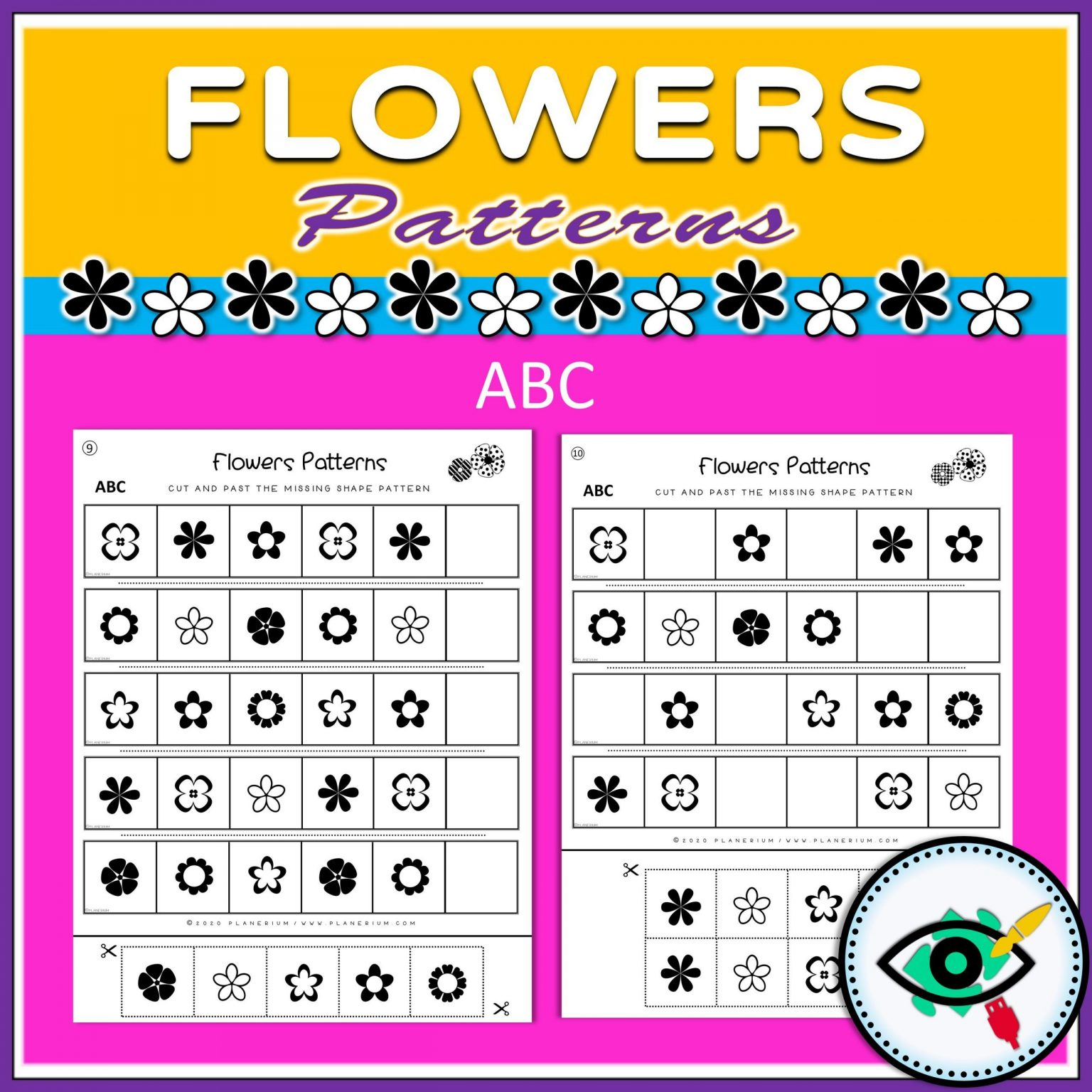 Spring - Patterns Game - Flowers - Title 4