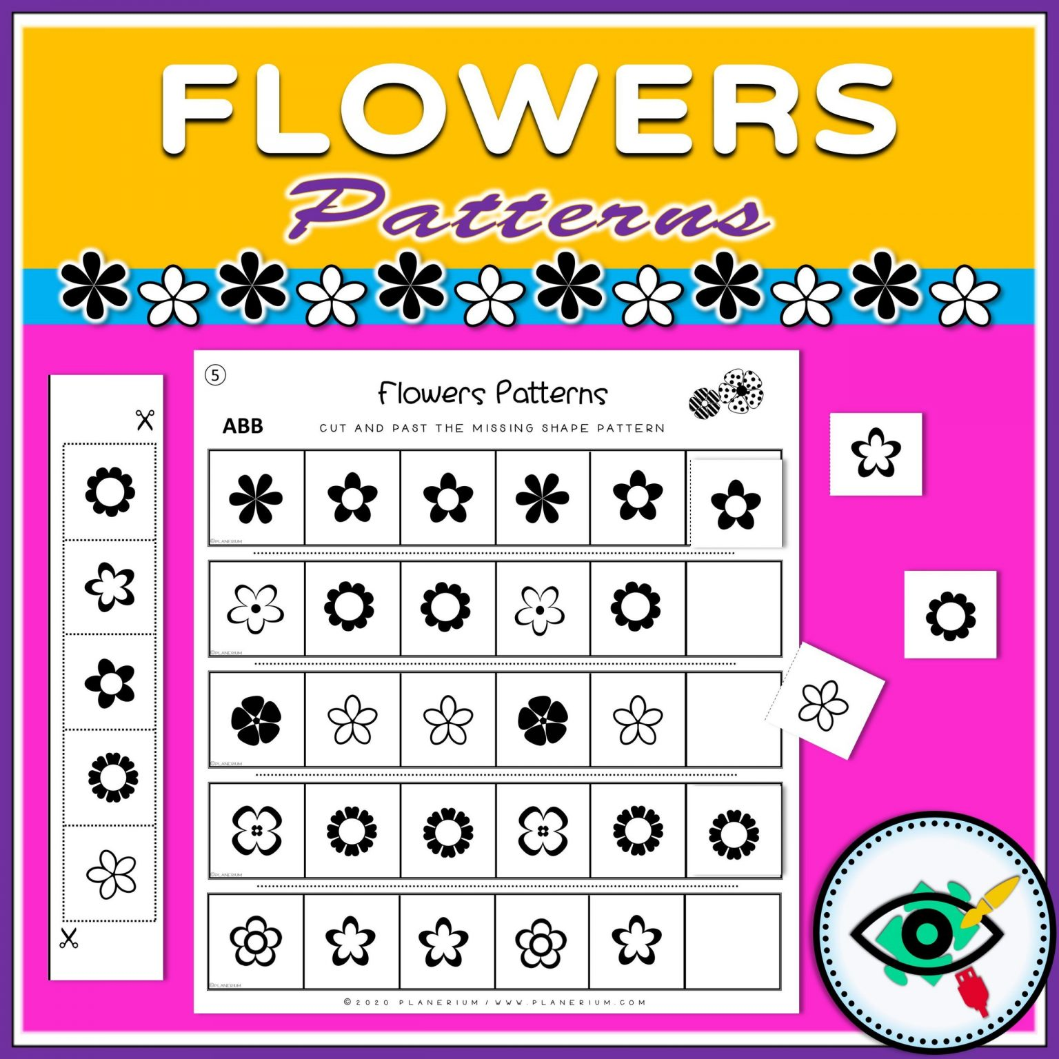 Spring - Patterns Game - Flowers - Title 5