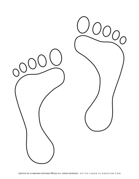 Summer - Coloring Page - Bare foots