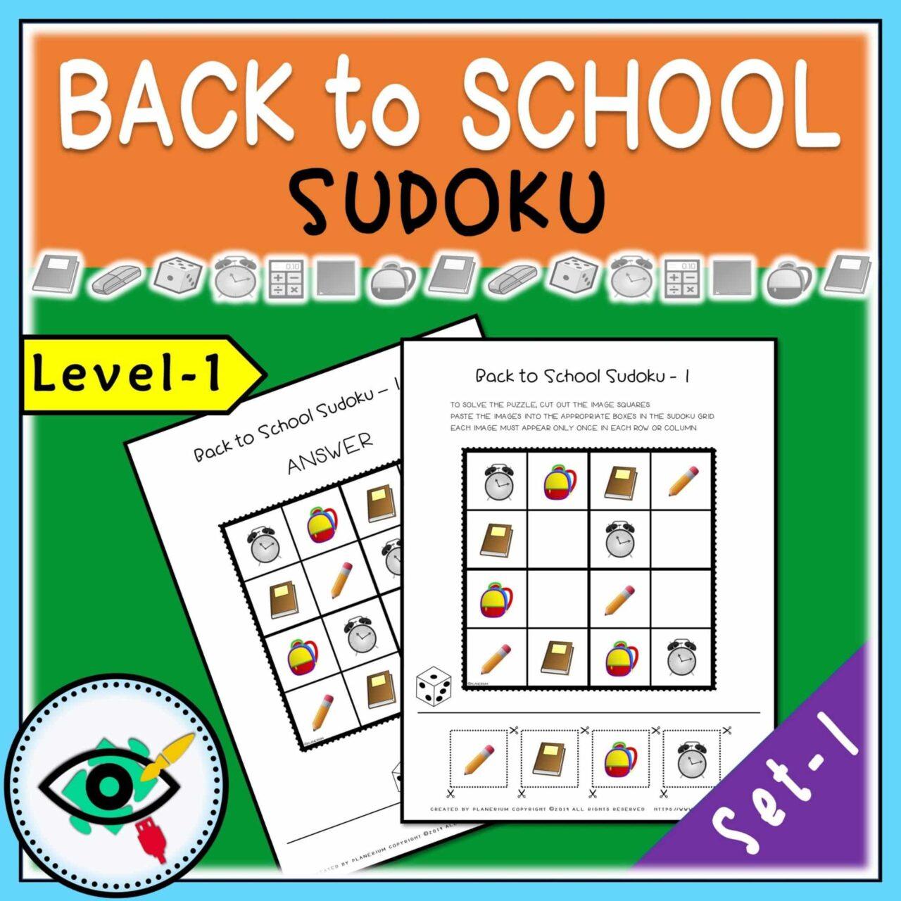Back to School - Sudoku - Title 1 | Planerium