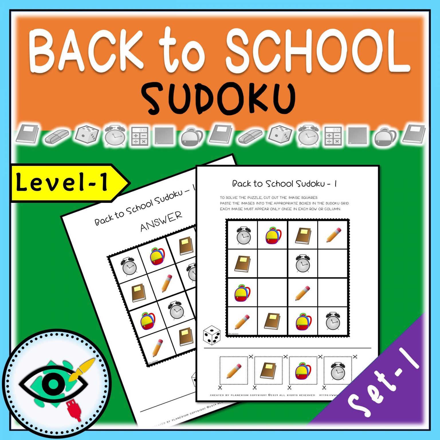 Back to School - Sudoku - Title 1   Planerium