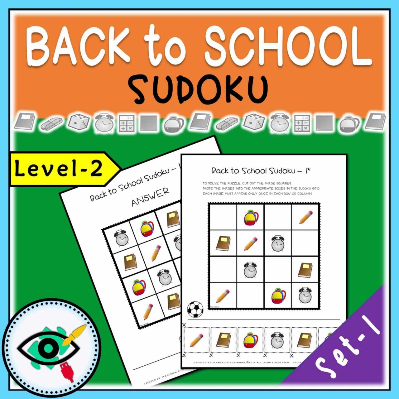 Back to School - Sudoku - Title 2 | Planerium