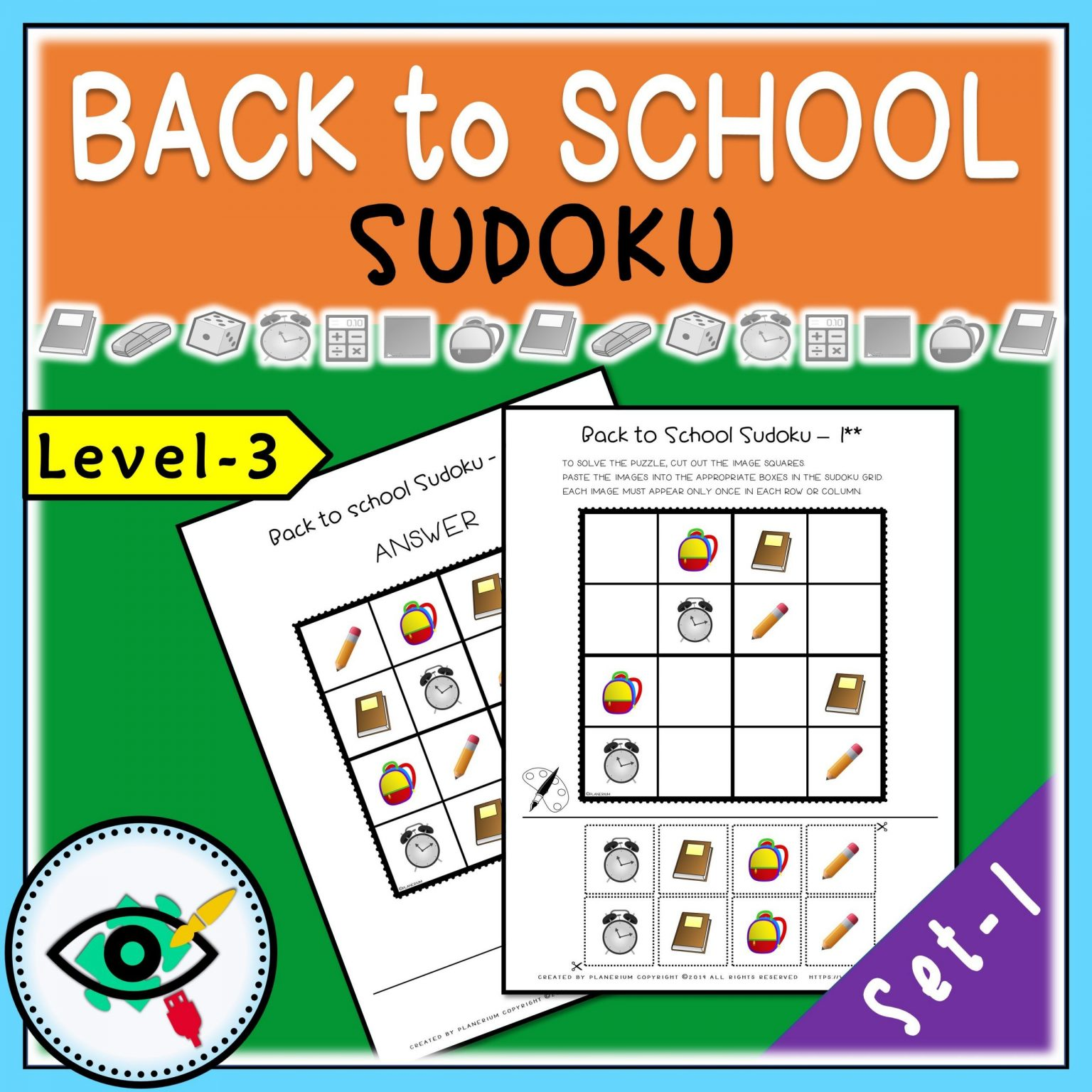 Back to School - Sudoku - Title 3   Planerium