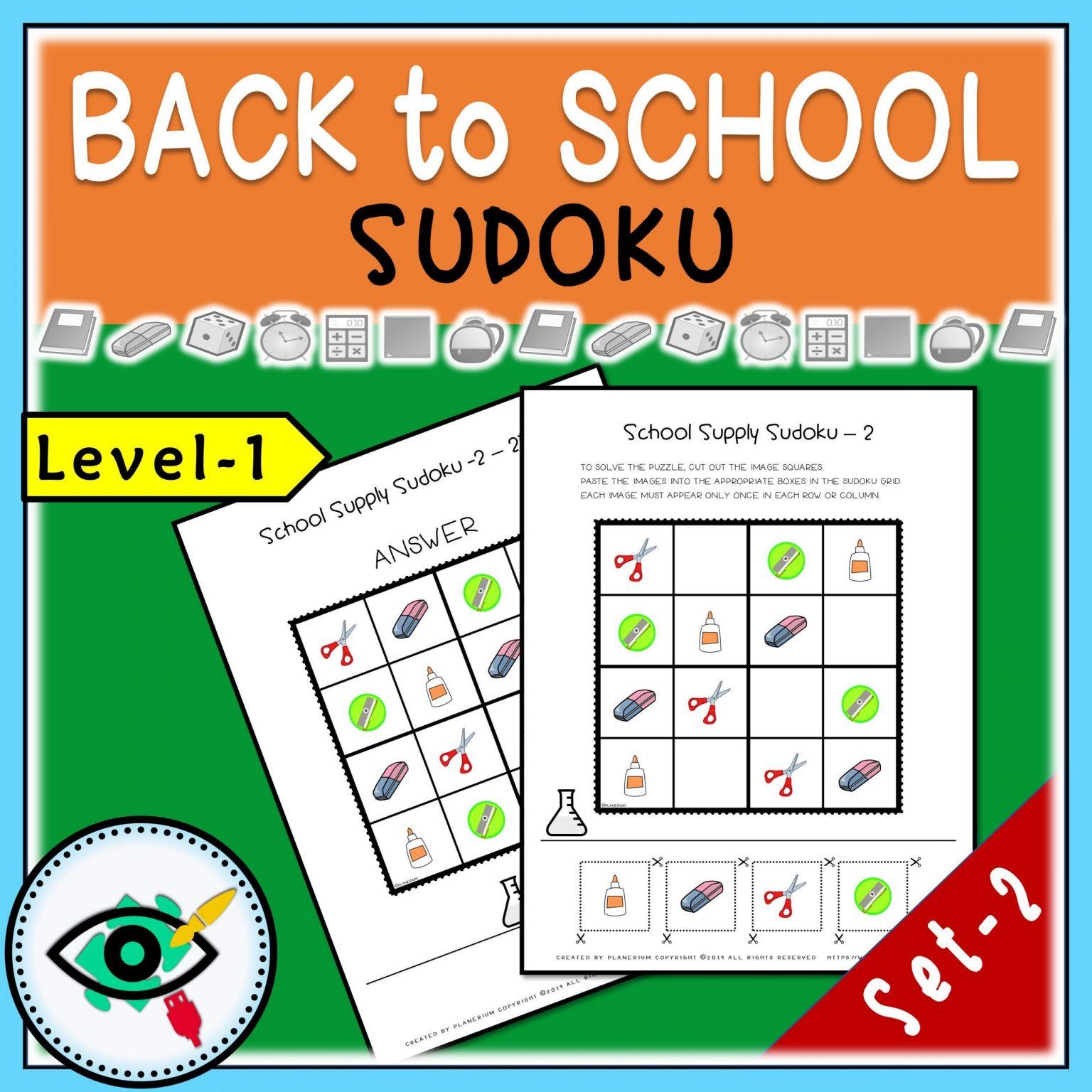 Back to School - Sudoku - Title 4   Planerium