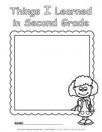 End of Year - Worksheet - Review Second Grade - Girl