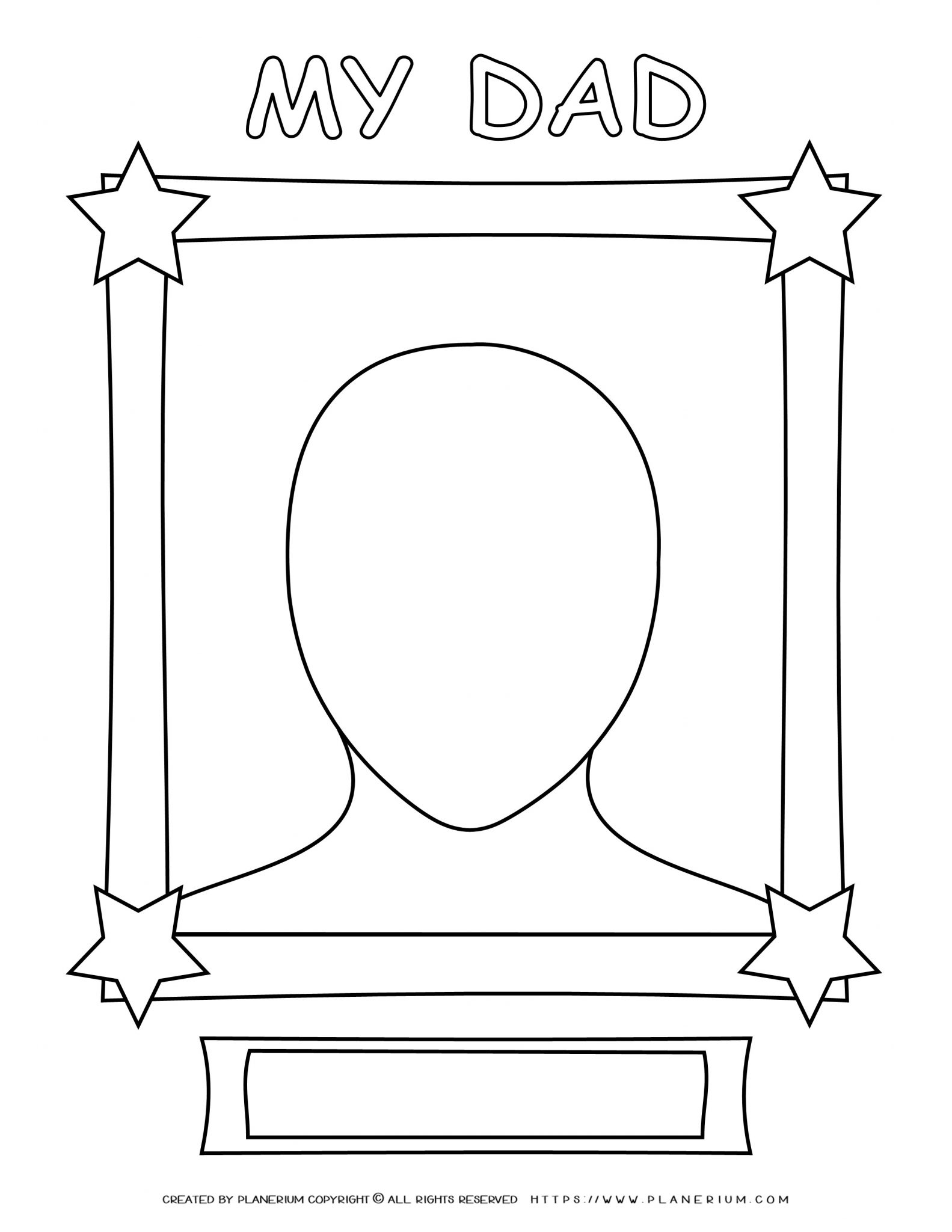 Father's Day - Coloring Page - My Dad