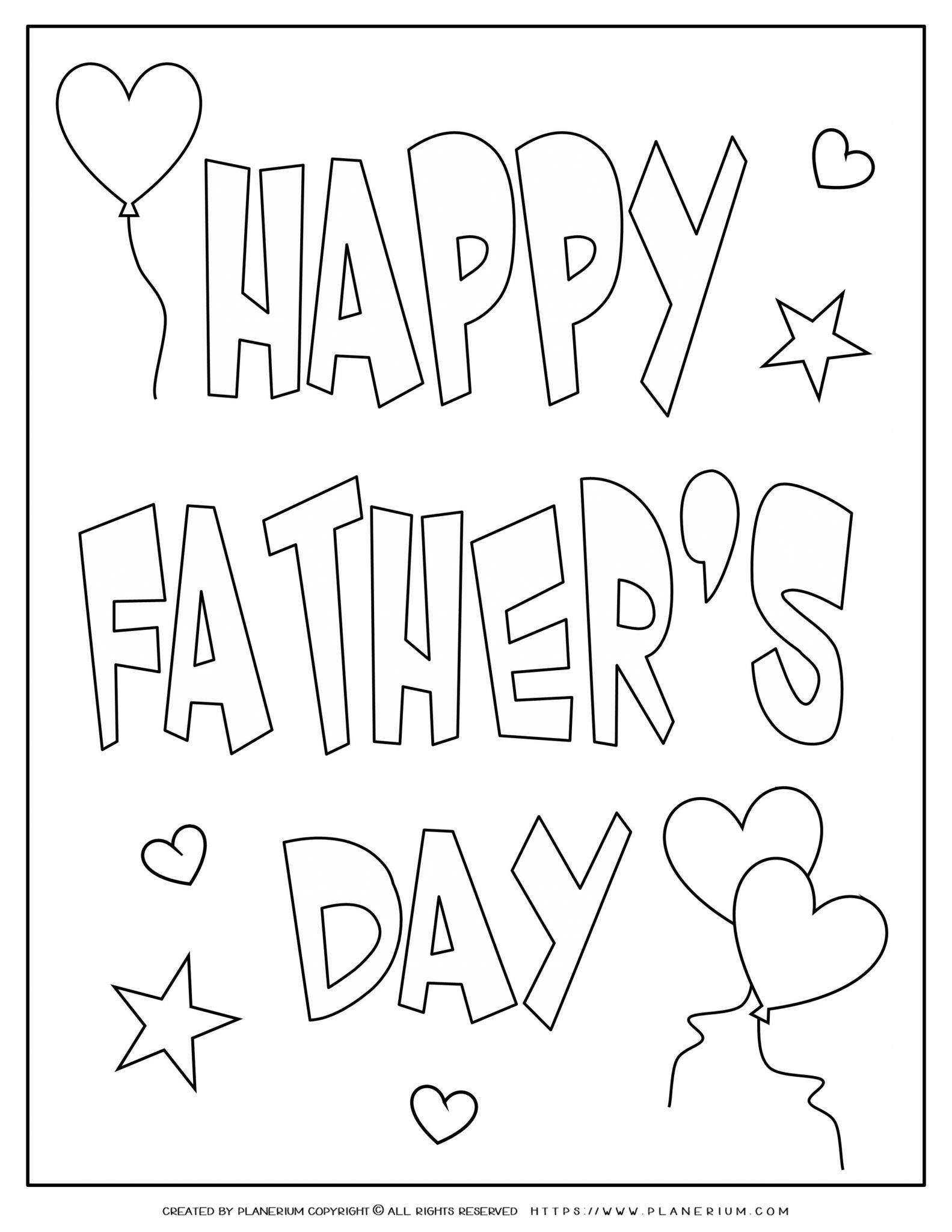 Father's Day - Coloring Page - Happy Father's Day