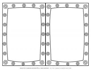 Mother's Day - Coloring Page - Greeting Flowers Frame