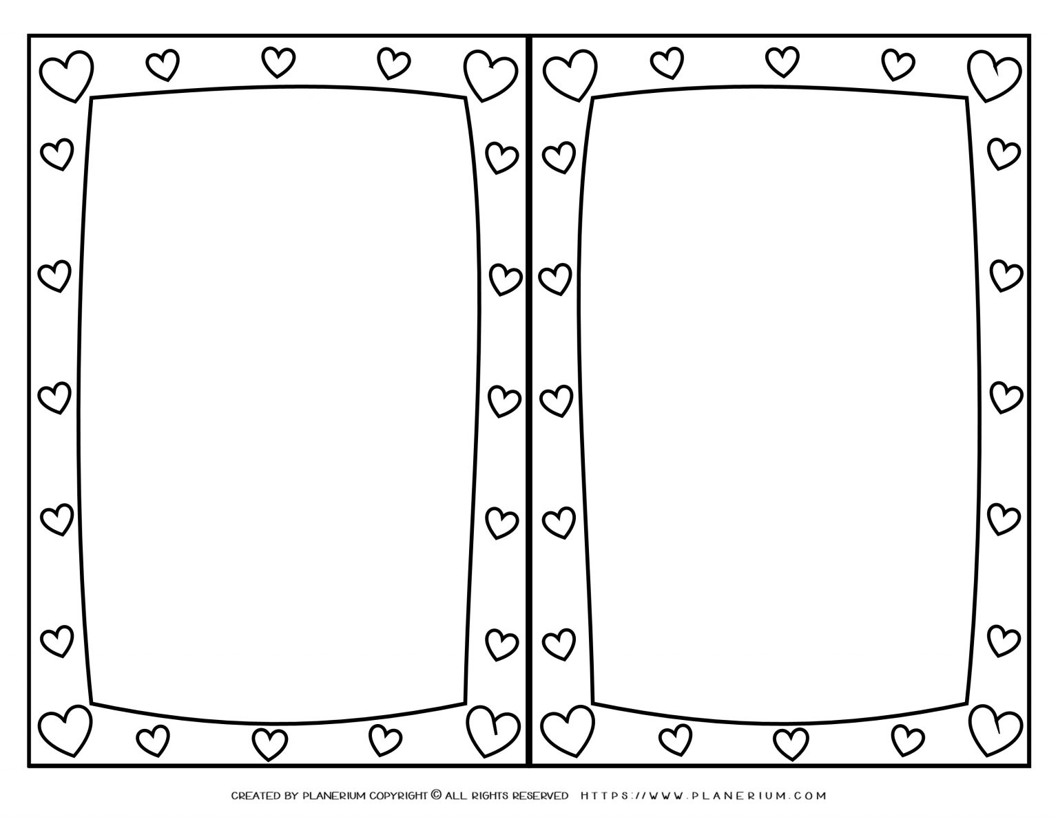 Mother's Day - Coloring Page - Greeting Hearts Frame